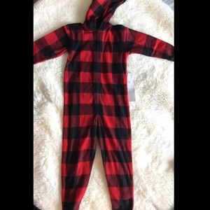 Gap Kids Unisex Zip Up Pajama Romper Long Sleeve